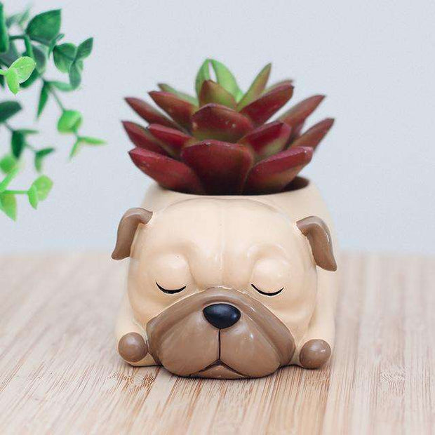 Charlie Buddy - Hand picked products for your dogs and cats-Cartoon Dogs Flower Pots-Pug