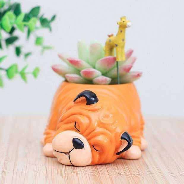 Charlie Buddy - Hand picked products for your dogs and cats-Cartoon Dogs Flower Pots-Sharpei