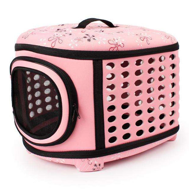 Charlie Buddy - Hand picked products for your dogs and cats-Cat & Small Dog Hard Sided Carrier-Pink / 45-38-32cm