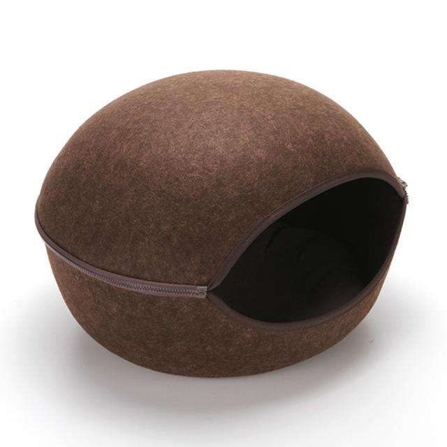 Charlie Buddy - Hand picked products for your dogs and cats-Cat Warm Nest-brown
