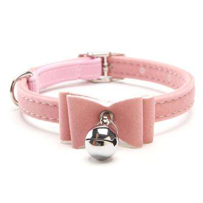 Charlie Buddy - Hand picked products for your dogs and cats-Chic Elastic Bowtie with Bell-Pink