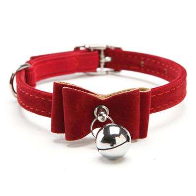 Charlie Buddy - Hand picked products for your dogs and cats-Chic Elastic Bowtie with Bell-Red