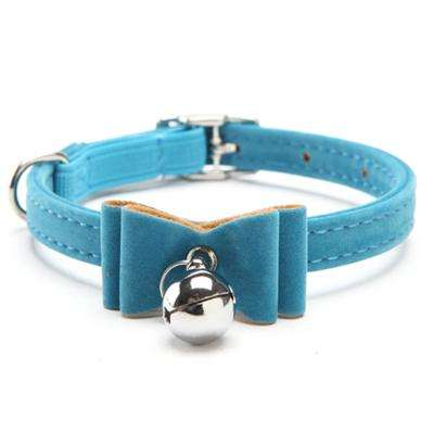 Charlie Buddy - Hand picked products for your dogs and cats-Chic Elastic Bowtie with Bell-Blue