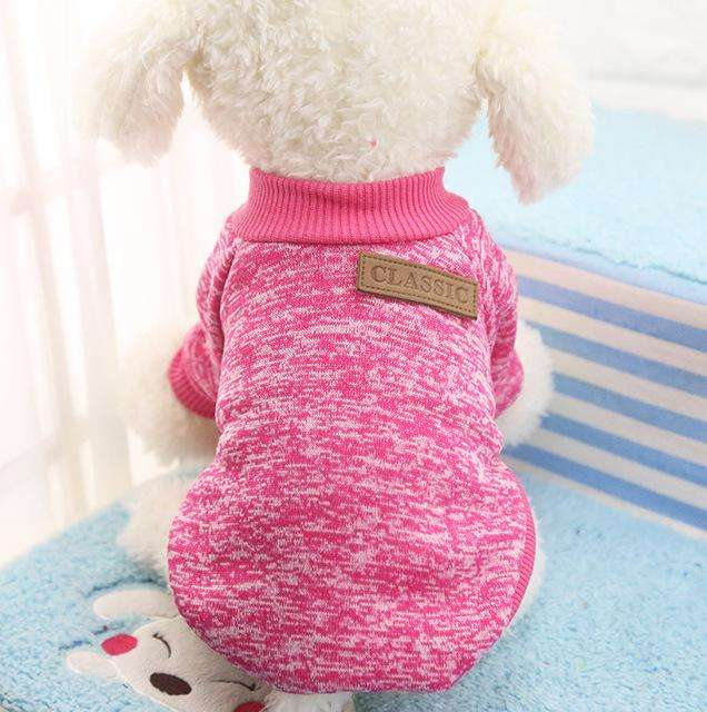 Charlie Buddy - Hand picked products for your dogs and cats-Classic Warm Dog Sweater-Rose / L