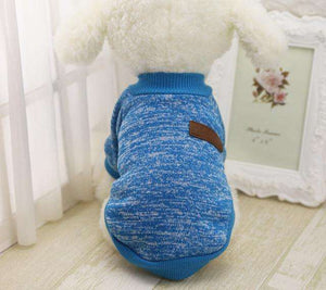 Charlie Buddy - Hand picked products for your dogs and cats-Classic Warm Dog Sweater-Blue / L