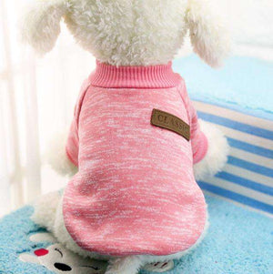 Charlie Buddy - Hand picked products for your dogs and cats-Classic Warm Dog Sweater-Pink / L