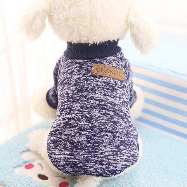 Charlie Buddy - Hand picked products for your dogs and cats-Classic Warm Dog Sweater-Navy / L