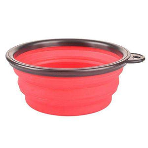 Charlie Buddy - Hand picked products for your dogs and cats-Collapsible Silicone Pet Bowl-Red