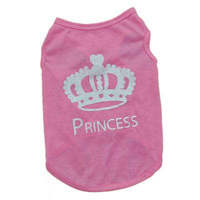 Charlie Buddy - Hand picked products for your dogs and cats-Cute Princess Pet T-Shirt-Pink / S