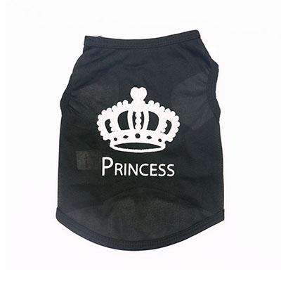 Charlie Buddy - Hand picked products for your dogs and cats-Cute Princess Pet T-Shirt-Black / S
