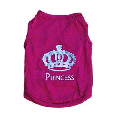 Charlie Buddy - Hand picked products for your dogs and cats-Cute Princess Pet T-Shirt-Red / S
