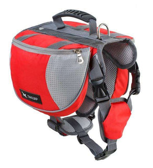 Charlie Buddy - Hand picked products for your dogs and cats-Dog Backpack Saddle-red / S
