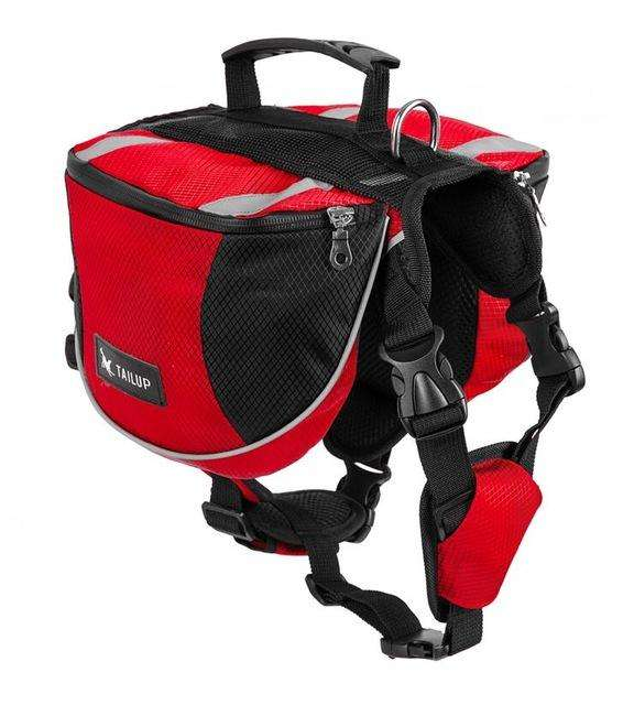 Charlie Buddy - Hand picked products for your dogs and cats-Dog Backpack Saddle-gorgeous red / S