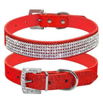 Charlie Buddy - Hand picked products for your dogs and cats-Elegant Diamond Rhinestone Collar-Red / XS