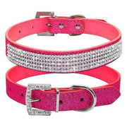 Charlie Buddy - Hand picked products for your dogs and cats-Elegant Diamond Rhinestone Collar-Rose Red / XS