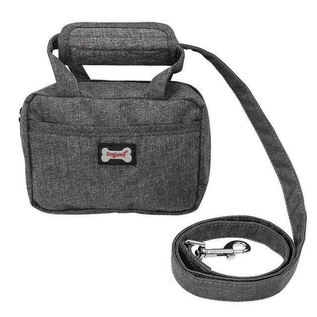 Charlie Buddy - Hand picked products for your dogs and cats-Food Handbag and Leash-Grey / 20x14x5cm