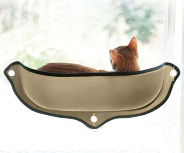 Charlie Buddy - Hand picked products for your dogs and cats-Hammock Window Cat Bed-Khaki