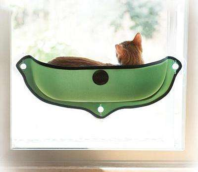 Charlie Buddy - Hand picked products for your dogs and cats-Hammock Window Cat Bed-Green