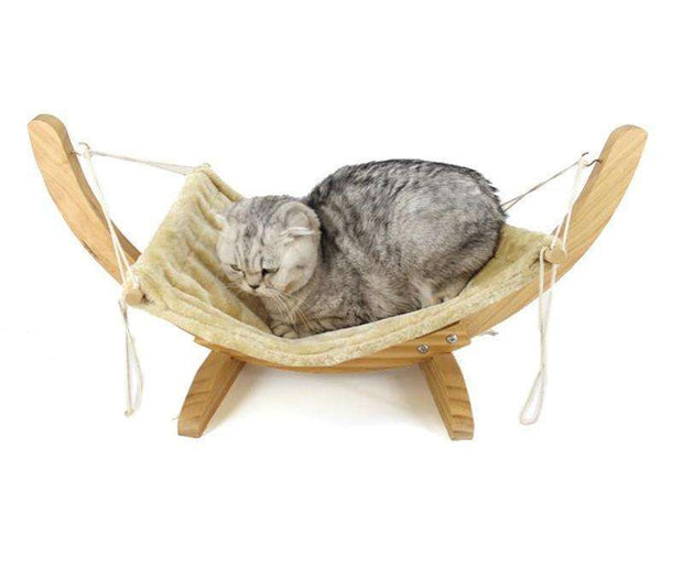 Charlie Buddy - Hand picked products for your dogs and cats-Handmade Wooden Cat Hammock