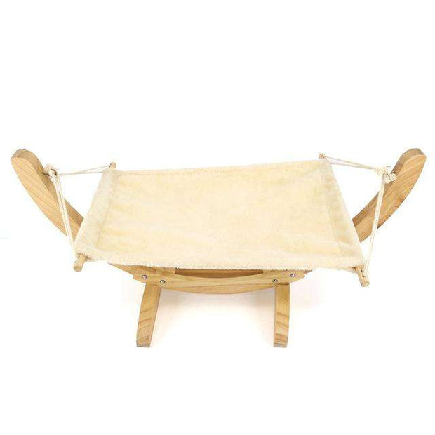 Charlie Buddy - Hand picked products for your dogs and cats-Handmade Wooden Cat Hammock-White