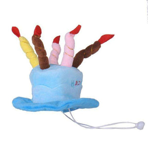 Charlie Buddy - Hand picked products for your dogs and cats-Happy Birthday! Dog Hat-Blue
