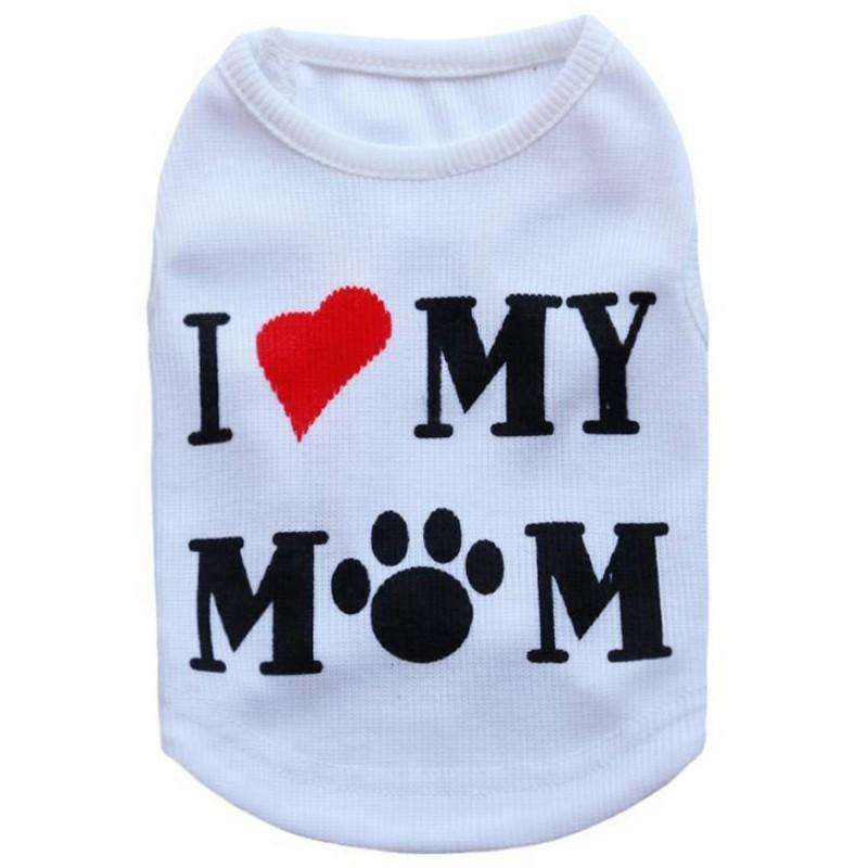 "Charlie Buddy - Hand picked products for your dogs and cats-""I Love My Mom"" Small Dogs Vest-L"