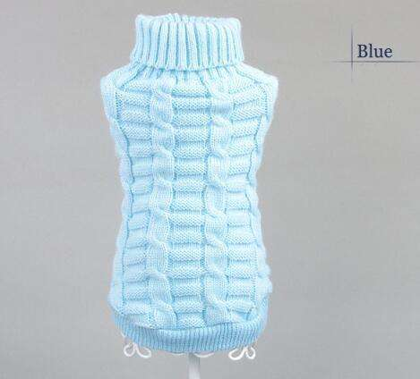 Charlie Buddy - Hand picked products for your dogs and cats-Knitted Pet Sweater-Blue / XS