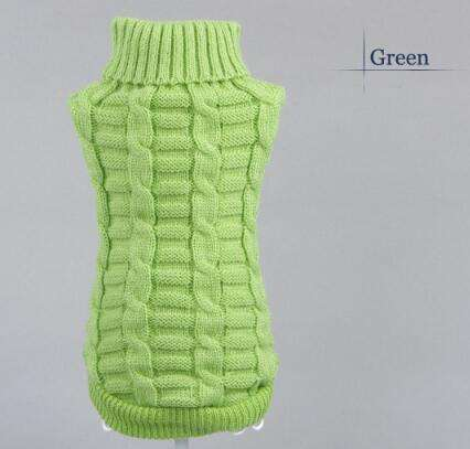 Charlie Buddy - Hand picked products for your dogs and cats-Knitted Pet Sweater-Green / XS