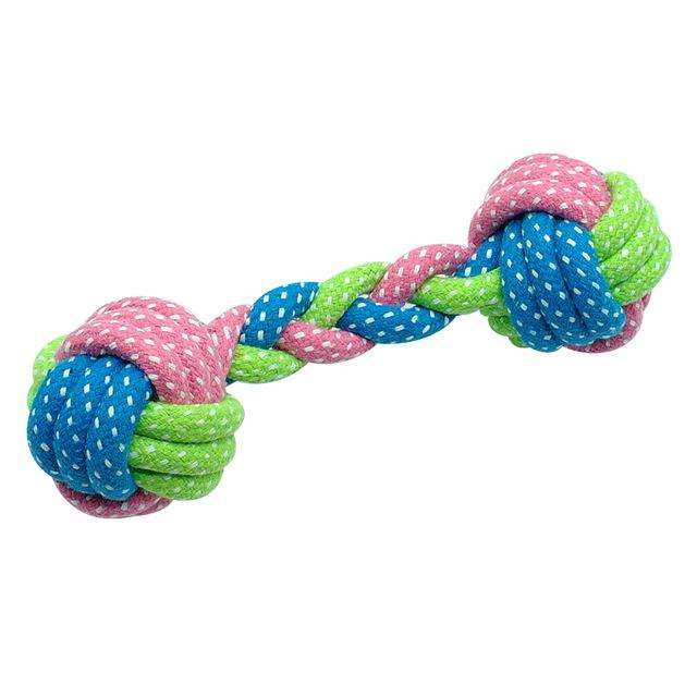 Charlie Buddy - Hand picked products for your dogs and cats-Knotted Cotton Dog Toys-Dumbell
