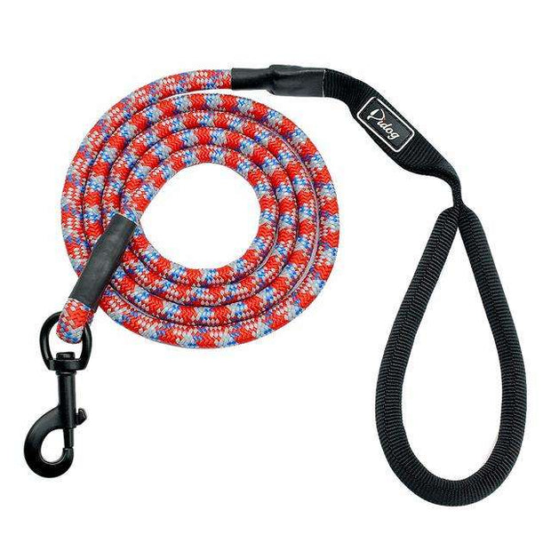 Charlie Buddy - Hand picked products for your dogs and cats-Nylon Reflective Dog Leash-Red
