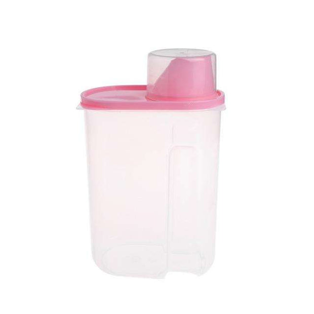 Charlie Buddy - Hand picked products for your dogs and cats-Pet Food Container With Cup-Pink / L