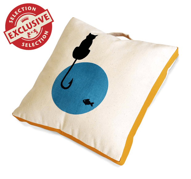 Charlie Buddy - Hand picked products for your dogs and cats-Pillow - Cat The Fish