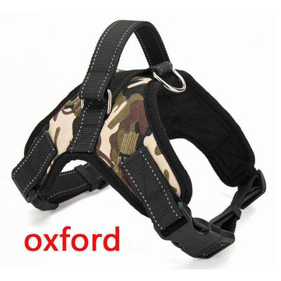 Charlie Buddy - Hand picked products for your dogs and cats-Reflective Heavy Duty Soft Nylon Dog Harness Collar-Camouflage Oxford / L