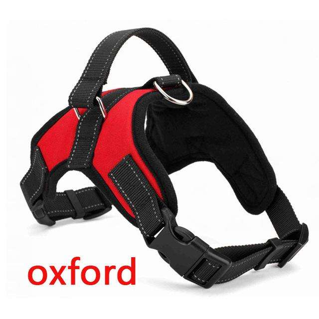 Charlie Buddy - Hand picked products for your dogs and cats-Reflective Heavy Duty Soft Nylon Dog Harness Collar-Red Oxford / L