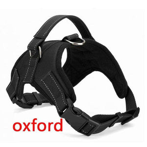 Charlie Buddy - Hand picked products for your dogs and cats-Reflective Heavy Duty Soft Nylon Dog Harness Collar-Black Oxford / L