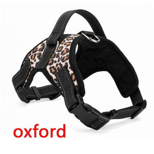 Charlie Buddy - Hand picked products for your dogs and cats-Reflective Heavy Duty Soft Nylon Dog Harness Collar-Leopard Oxford / L
