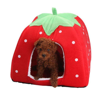Charlie Buddy - Hand picked products for your dogs and cats-Strawberry or Leopard Winter Bed House