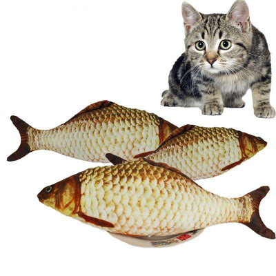 Charlie Buddy - Hand picked products for your dogs and cats-Stuffed Simulated Fish Cat Toy