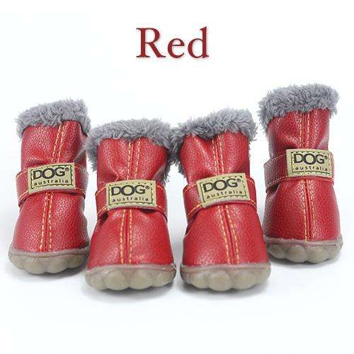 Charlie Buddy - Hand picked products for your dogs and cats-Trendy Super Warm Dog Shoes-Red / S