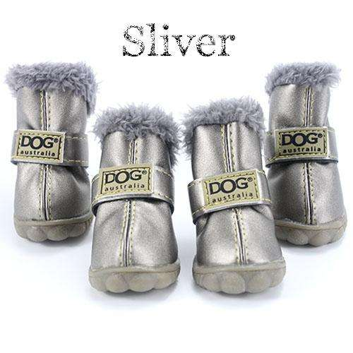 Charlie Buddy - Hand picked products for your dogs and cats-Trendy Super Warm Dog Shoes-Silver / L