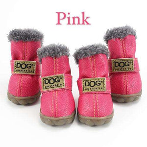 Charlie Buddy - Hand picked products for your dogs and cats-Trendy Super Warm Dog Shoes-Pink / L