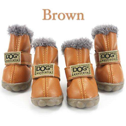 Charlie Buddy - Hand picked products for your dogs and cats-Trendy Super Warm Dog Shoes-Brown / L