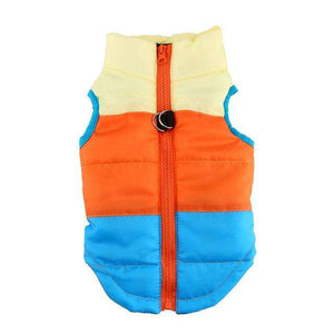 Charlie Buddy - Hand picked products for your dogs and cats-Warm Windproof Padded Vest-Blue/Orange/Yellow / L