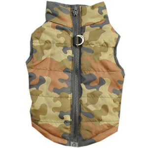 Charlie Buddy - Hand picked products for your dogs and cats-Warm Windproof Padded Vest-Green Camouflage / S