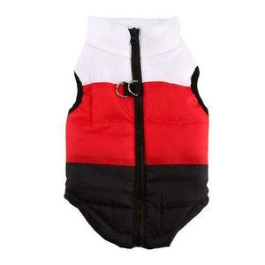 Charlie Buddy - Hand picked products for your dogs and cats-Warm Windproof Padded Vest-Black/Red/White / L