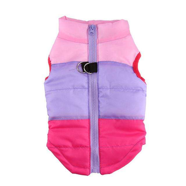 Charlie Buddy - Hand picked products for your dogs and cats-Warm Windproof Padded Vest-Rose / L