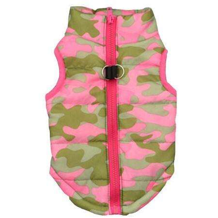 Charlie Buddy - Hand picked products for your dogs and cats-Warm Windproof Padded Vest-Pink Camouflage / S