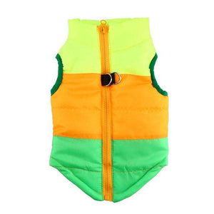 Charlie Buddy - Hand picked products for your dogs and cats-Warm Windproof Padded Vest-Green/Orange/Yellow / L