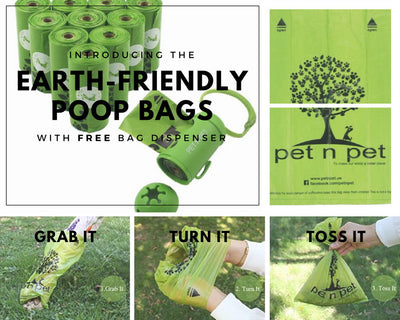 Environmental Friendly Poop Bags with Dispenser (180pcs)