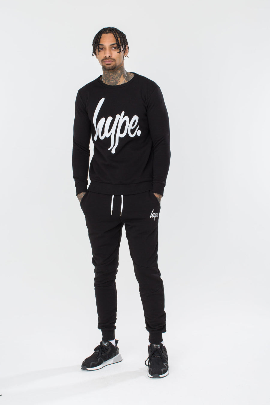 HYPE Men's Crewneck Hype Script Black